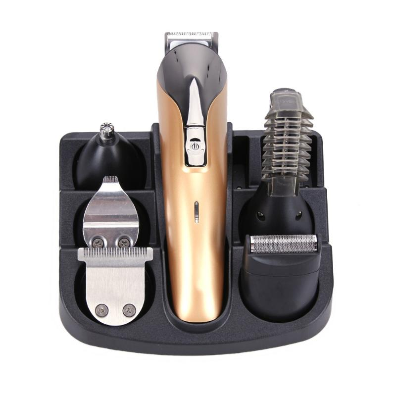 Original Hair Trimmer Electric Hair Clipper Shaver Set Beard Trimmer kit for Men with 6 Cutter Head( without Lubricating Oil) men hair removal women shaver with pivoting head male mustache beard eyebrow hair trimmer shaver machine safe lighted epilator