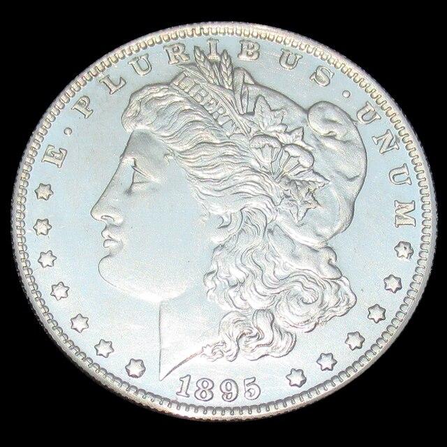 Morgan Silver Dollar 1895 S Usa Real 90 Coins 26 71 75 Grams Replica Antique Imitation New Used Condition