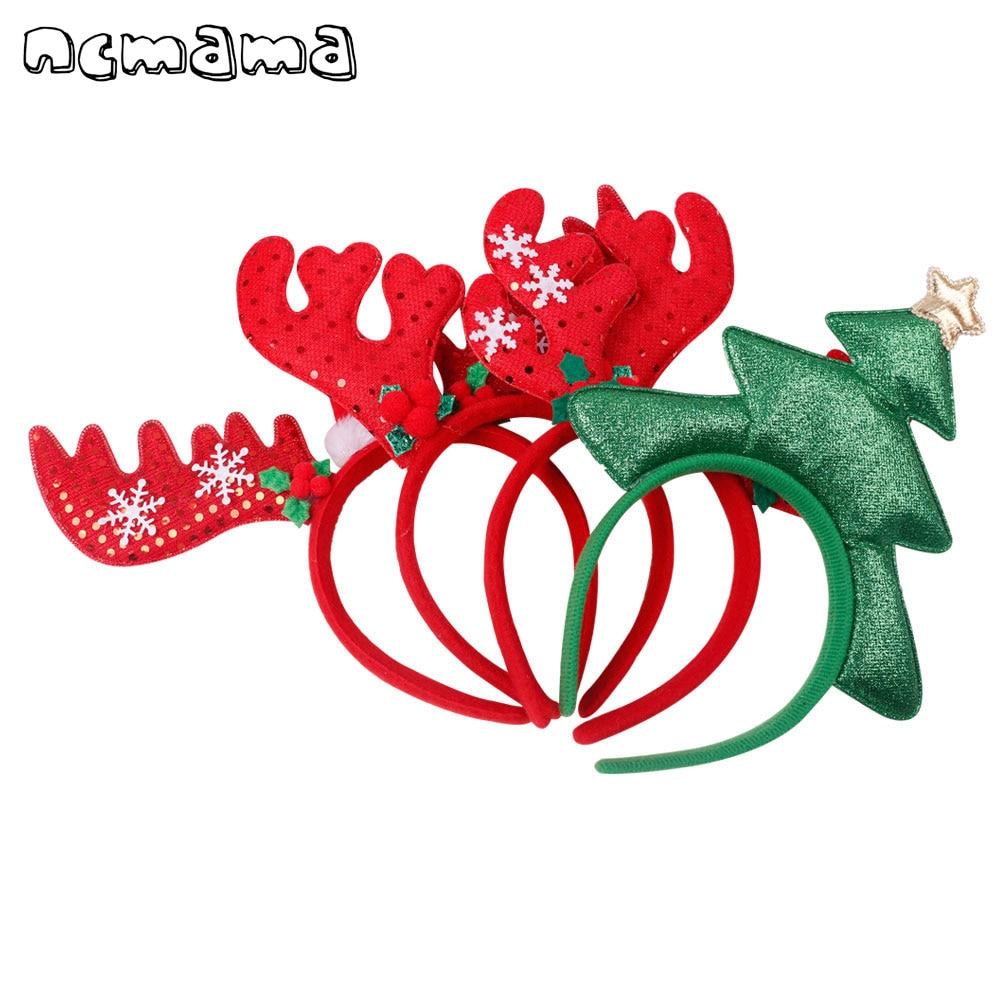 christmas antlers solid hairband