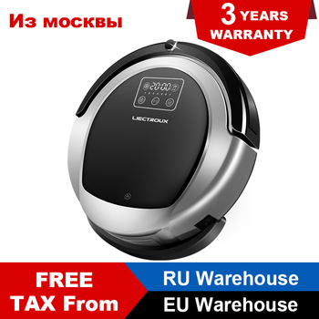 LIECTROUX B6009 Robot Vacuum Cleaner 2D Map Navigation Low Repetition Dual Way Virtual Blocker Dual Way UV light Remote Control