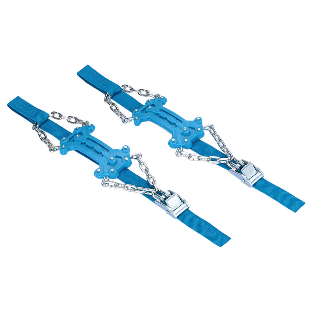 2pcs Universal Anti-Skid Chains Roadway Safety Winter Driving Snow Chain Durable Mud Wheel Snow Tire Belt