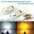 Para Dodge Dakota Durango, Viaje, Neón, Nitro, Ram 1500 Excelente 3157 de Doble Color Switchback LED DRL + frontal de Señal de Vuelta luz