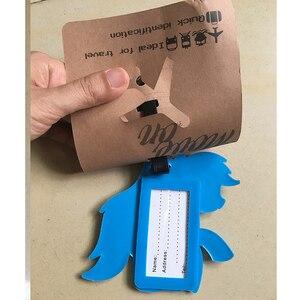 Image 5 - Mignon cheval étiquette à bagages accessoires de voyage Portable mode dessin animé TSUM ID adresse étiquettes de bagages valise étiquettes dembarquement