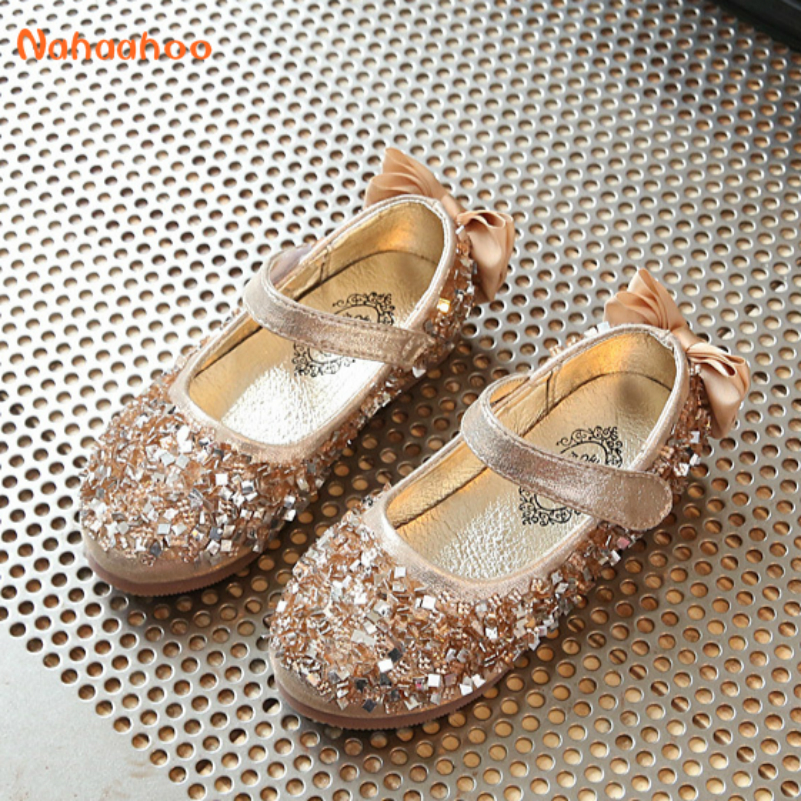 3 Color Gold Baby Girl Shoes Shining