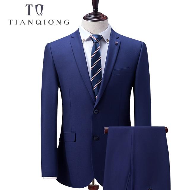 446e14ed4151 TIAN QIONG Custom Made Blu Vestito Degli Uomini