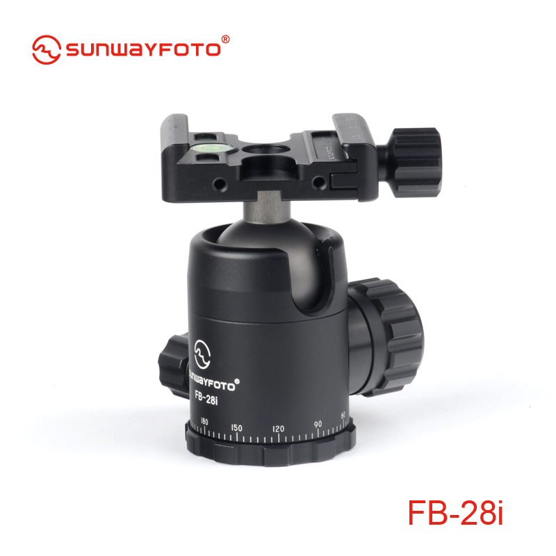 SUNWAYFOTO FB-28i Tripod Mini Ball Head for DSLR Camera Tripode Ballhead Professional Aluminum Monopod Panoramic Ball Head mini ball head of 360 swivel dslr camera tripod dsr 1 4screw mount stand mini ball head for camera tripod ballhead l3fe