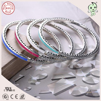 New Collection Popular And Fashion Colorful Enamel CZ Paving 925 Sterling Silver Bangle