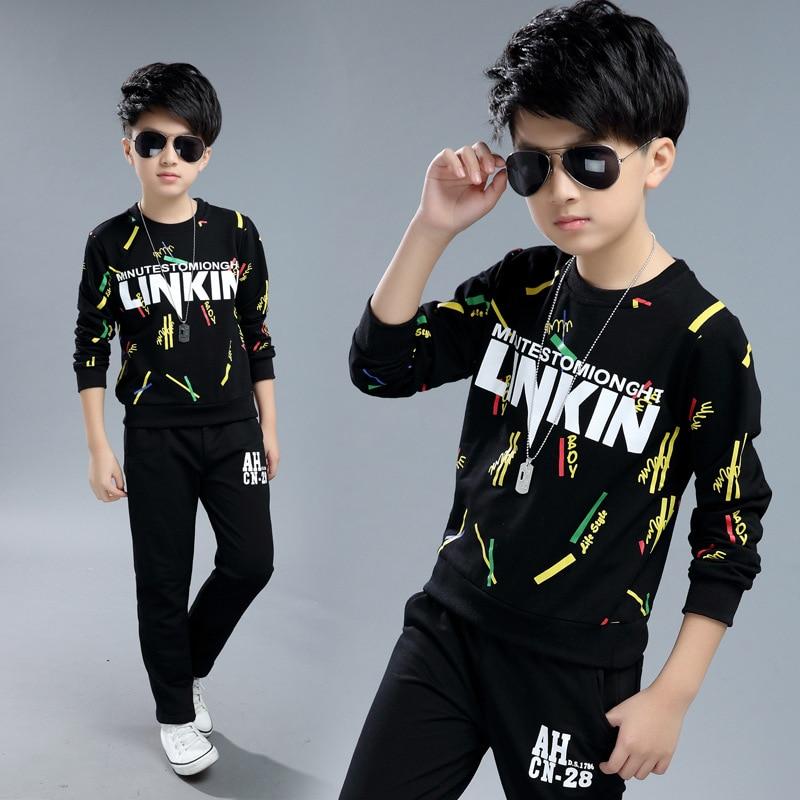 Niños chándal niños ropa conjunto deportes del muchacho adolescentes hip  hop traje ropa tracksuits vetement Garcon 26966fac2eb