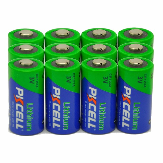 12 X PKCELL CR123A Lithium Battery CR123 CR 123 CR17335 123A CR17345 Batteries for