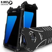 R-просто Бэтмен Алюминий металлический чехол для Samsung Galaxy S7 G930 Премиум противоударный Прочный Панцири для S7 край плюс G930 Чехол