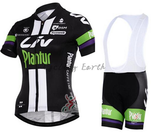 Breathable! Pro HQ 2015 women short sleeve cycling jersey bib shorts set bike bicycle clothes jersey pants,gel pad,Quick-dry!