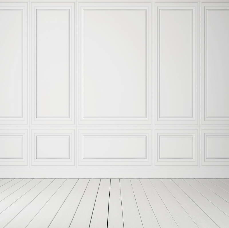 Pure white wood wall photo background for photo studio for Cheap plain white wallpaper