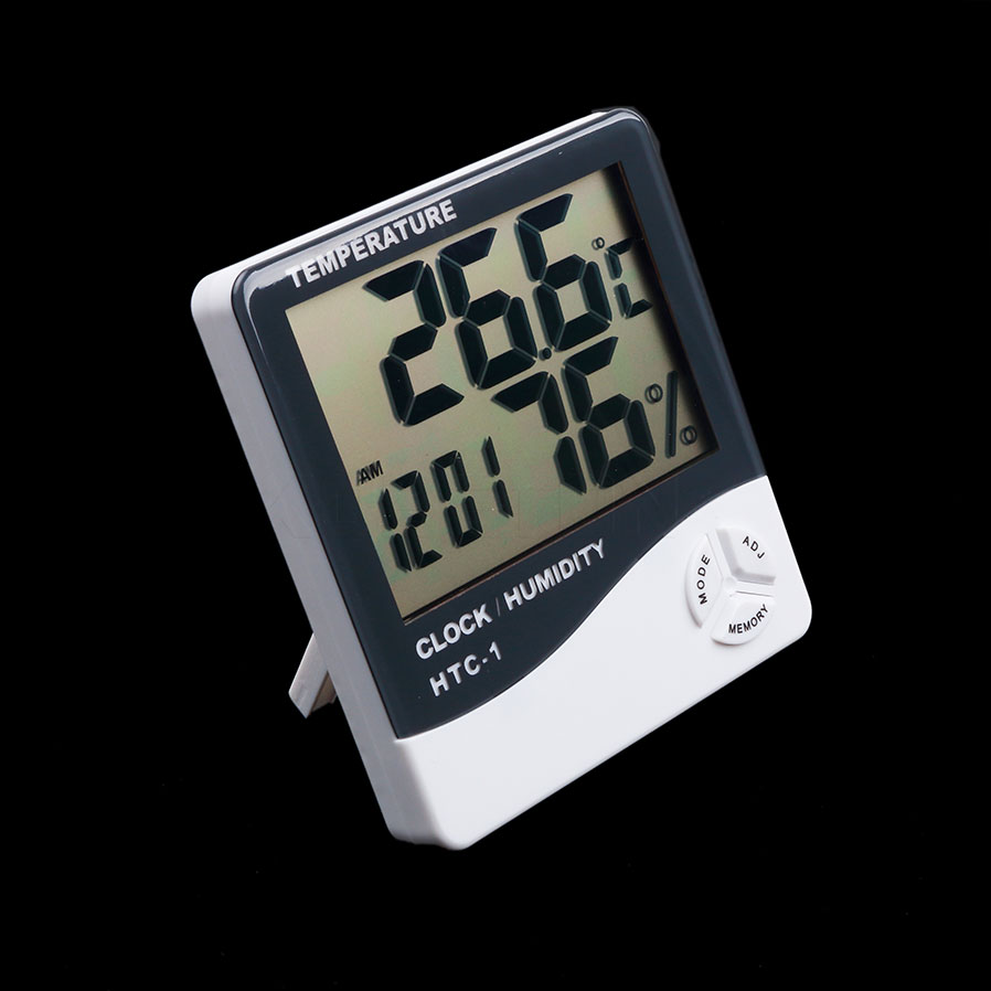 RUIX Thermo-Hygrometer With Probe Fish Tank Refrigerator Pet Supplies