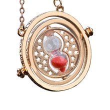 Multicolor Choose Cool Fashion Magic Time Turner Necklace Rotating Spins Hourglass Pendant Necklace