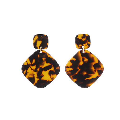 Женские леопардовые фигурные серьги ZA, висячие серьги черепаховой расцветки из акрилацетата, украшения для вечеринок - Окраска металла: 10420
