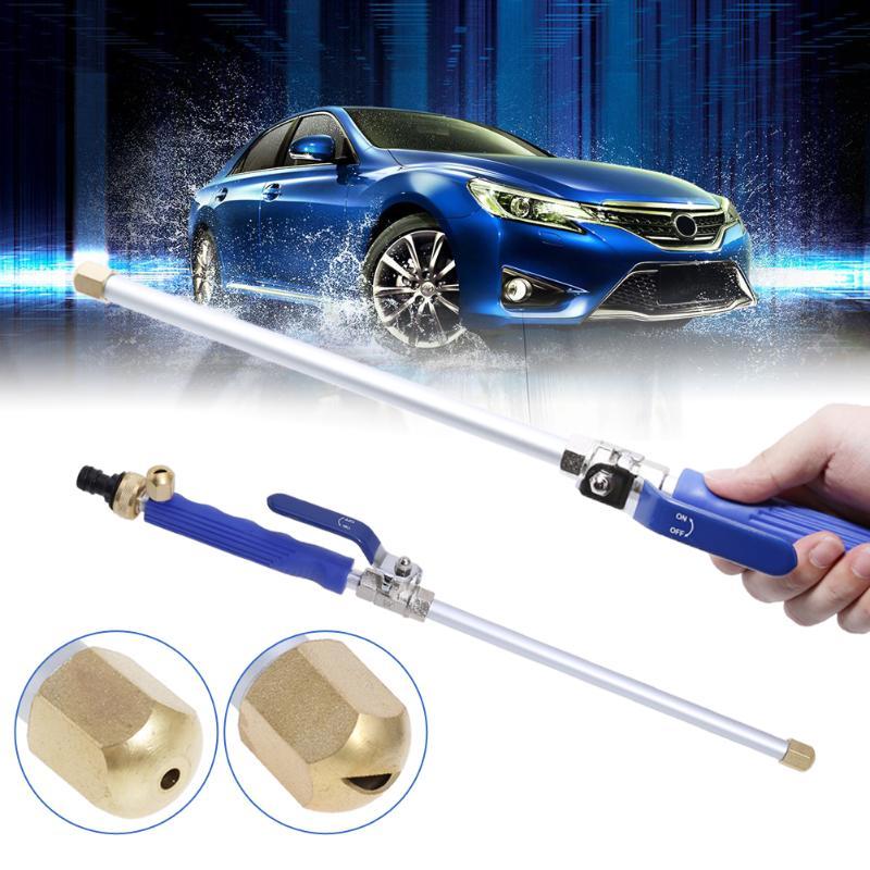 Arandela de agua de alta presión para coche, lavadora de potencia, boquilla de pulverización, manguera de agua con herramientas de limpieza de poste doblado largo para coche
