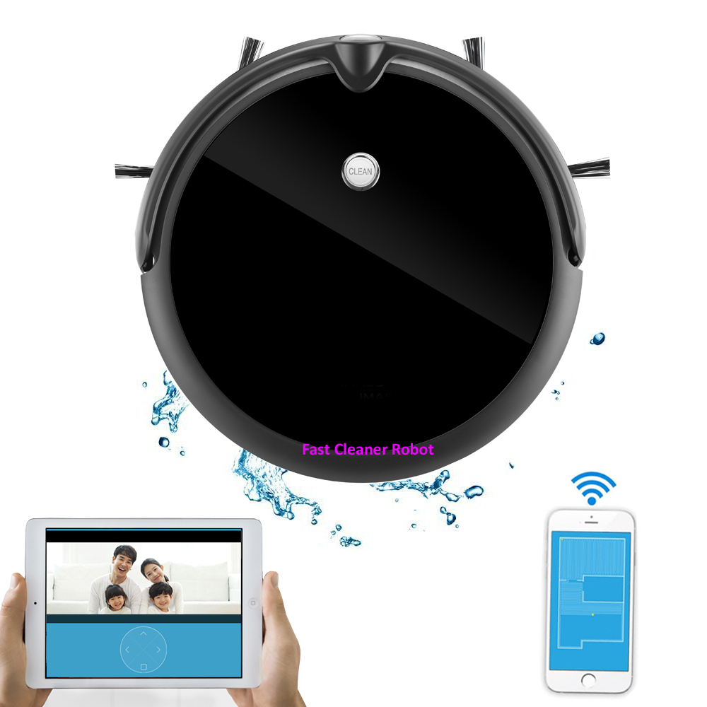 Intelligent Robot Vacuum Cleaner with Newest Camera, Dry and Wet Mopping,Mapping Function,Smartphone Wifi App Control