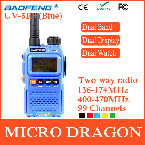 New BaoFeng UV-3R+ Professional Dual Band Transceiver 99 Channels Ham Two Way Radio Walkie Talkie Transmitter cb Radio Station