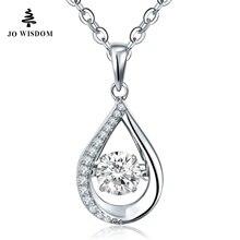 Jowisdom 100% стерлингового серебра 925 колье Цепочки и ожерелья с воротником Пидра природный топаз ожерелье Kolye кеттинг