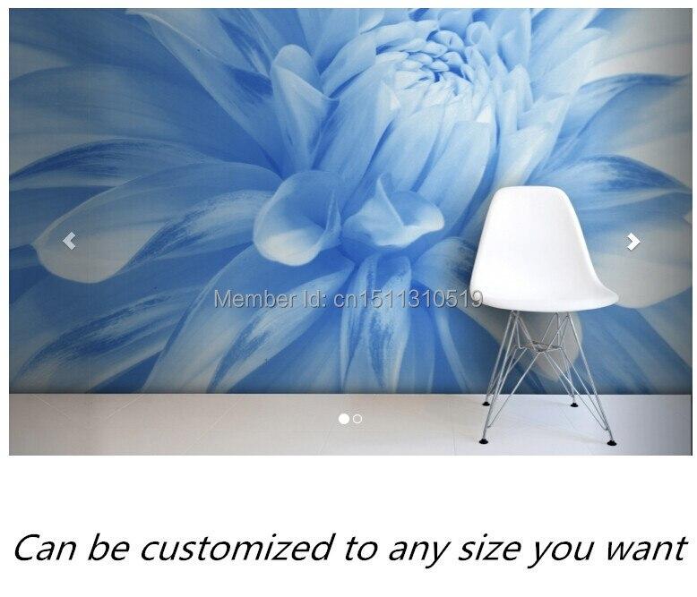 Free shipping custom murals Pale Blue Flower Mural Wallpaper bedroom, living room TV backdrop wallpaper