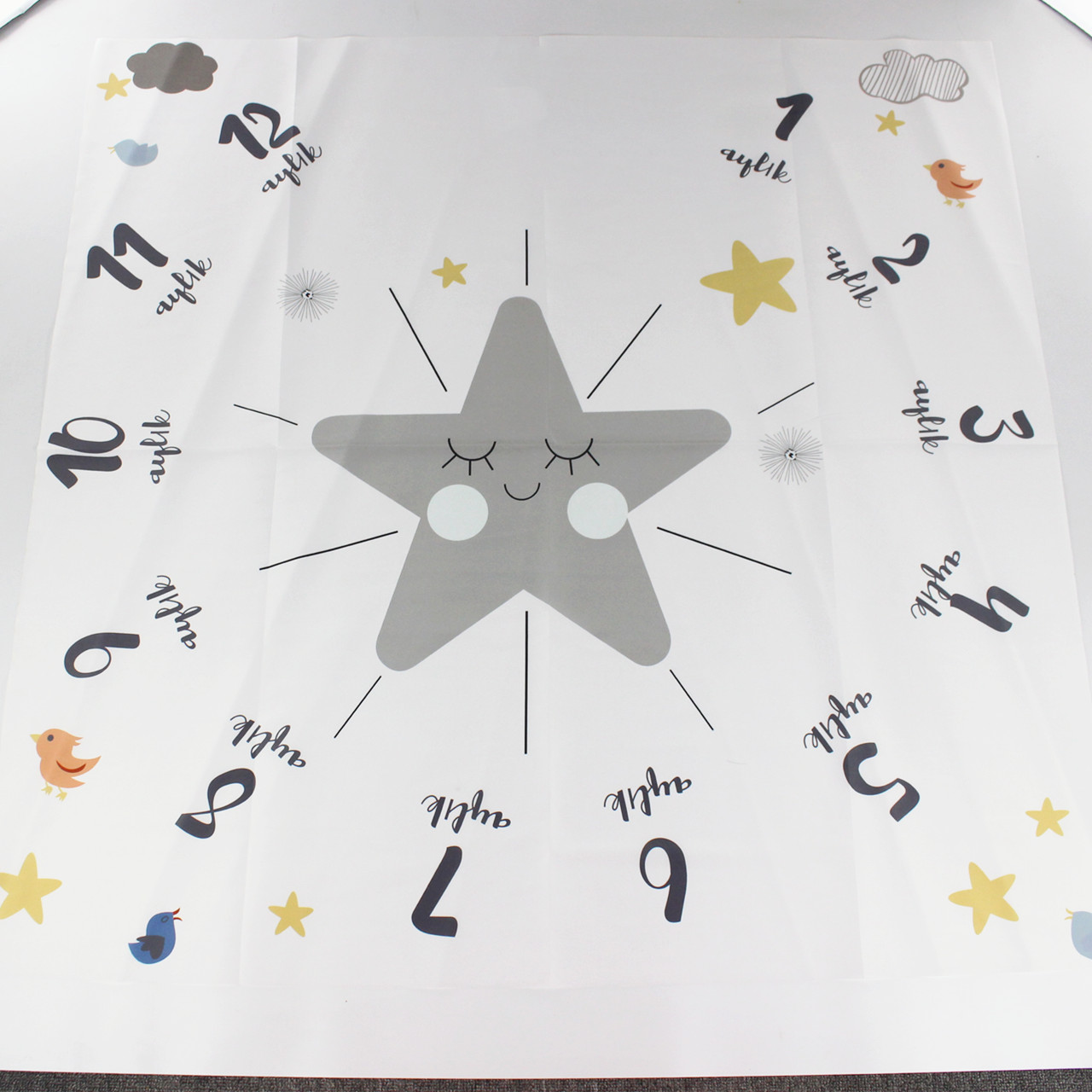 2019 New Baby Milestone Blanket Star Photography Props Memorial Growth Monthly Backdrop Cloth Infant Bebe Girl Photo Accessories