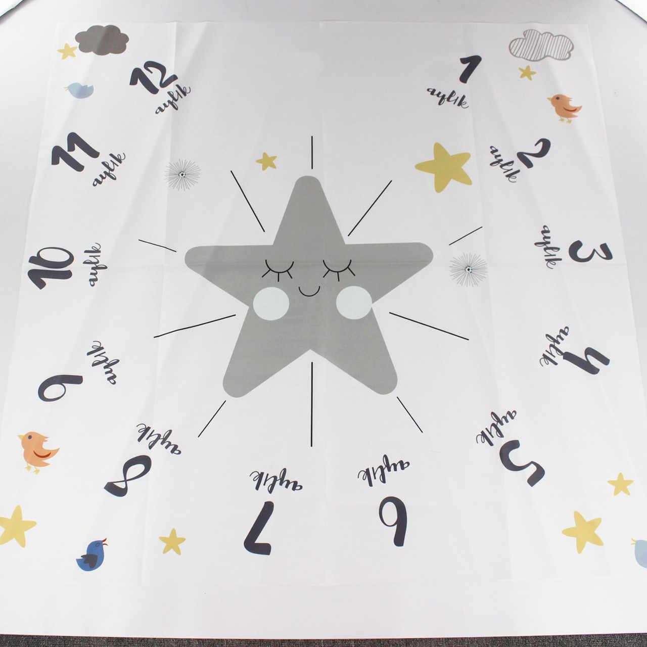 2019 novo bebê marco cobertor estrela fotografia adereços memorial crescimento mensal pano de fundo infantil bebe menina foto acessórios