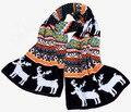 2014 nuevo regalo otoño invierno de moda blanco negro espesor de la bufanda colores reno para mujer bufandas de vestir de lana del hilado del silenciador