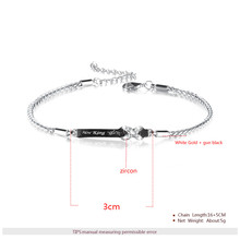 Her King His Queen Couple Bracelets with Crytal Stone Lover Crown Charm Bracelets For Women Men