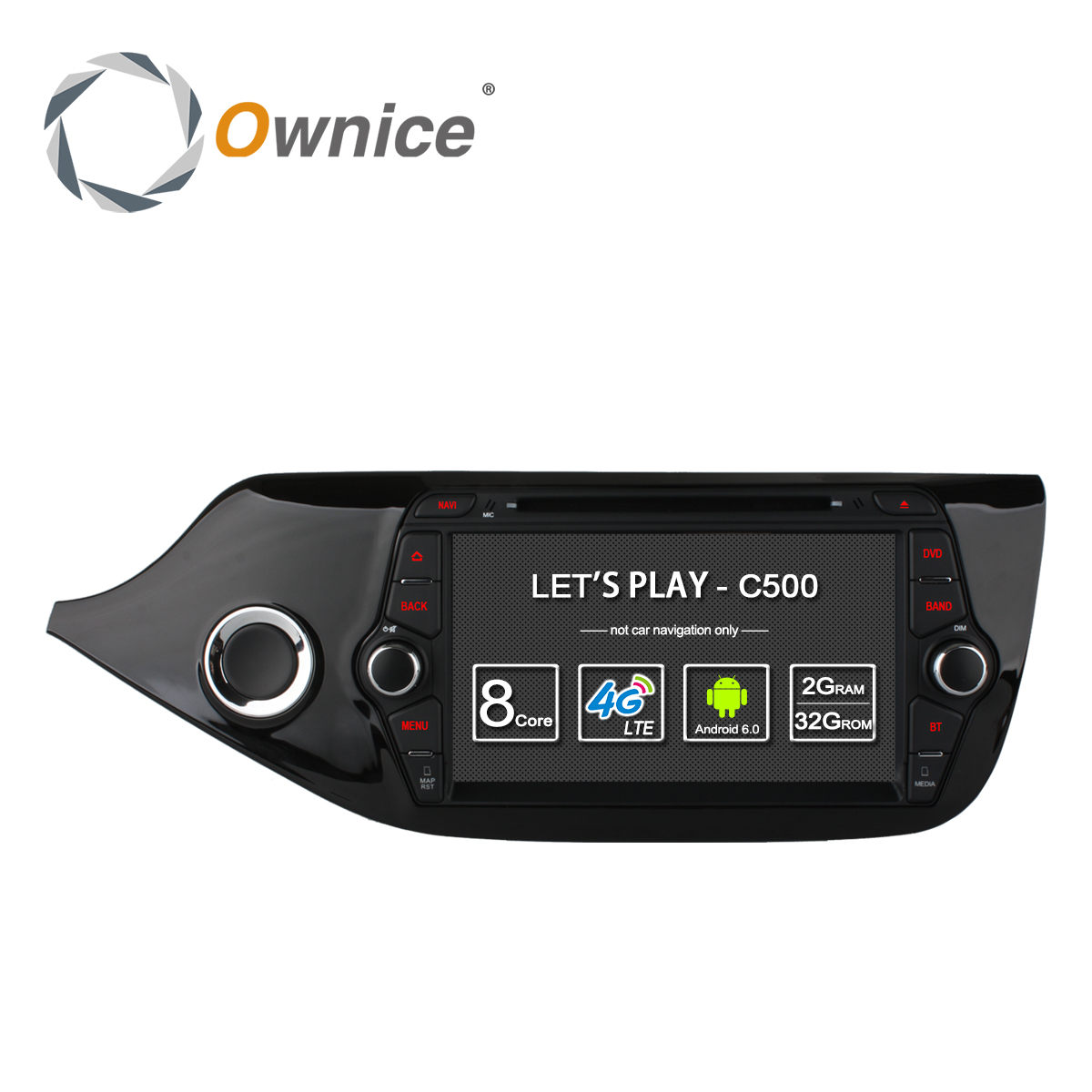 Ownice C500 4g SIM LTE Octa 8 Core Android 6.0 Pour Kia CEED 2013-2015 Voiture Lecteur DVD GPS Navi Radio WIFI 4g BT 2 gb RAM 32g ROM