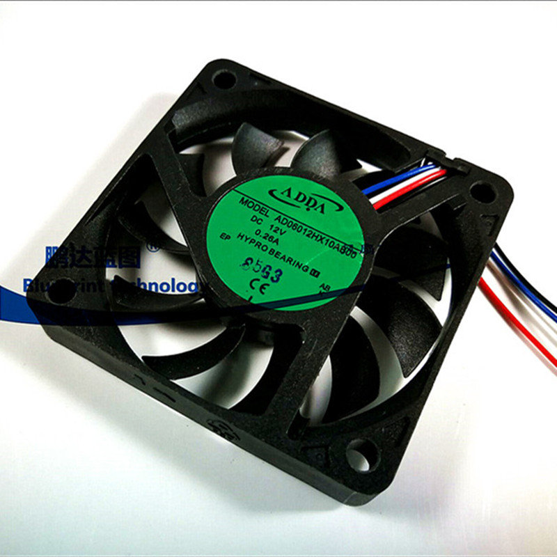 AD06012HX10AB00 <font><b>6010</b></font> 60MM 60X60X10MM ADDA Ultra-thin silence Graphics Card <font><b>fan</b></font> Cooling <font><b>fan</b></font> with 4pin PWM image