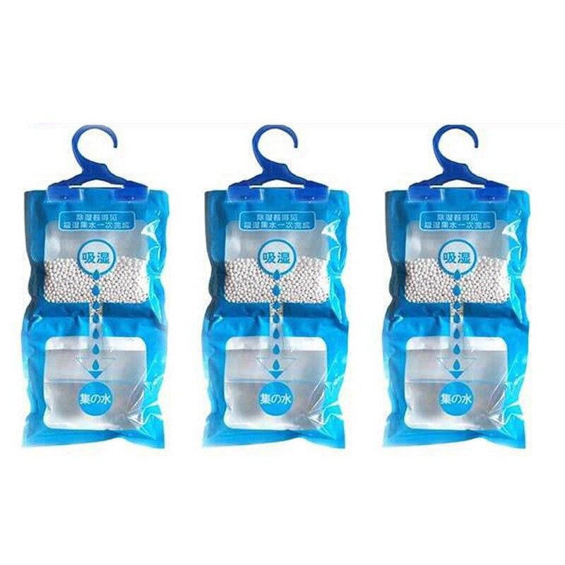 1pc Hanging Moisture Bag Closet Saving Space Cabinet Wardrobe Dehumidifier Drying Agent Hygroscopic Anti-Mold Cabinet Supplies
