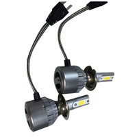 2pcs Car Headlight LED C6 COB Auto Front Fog Light Bulb 7200LM 9V 36V H7