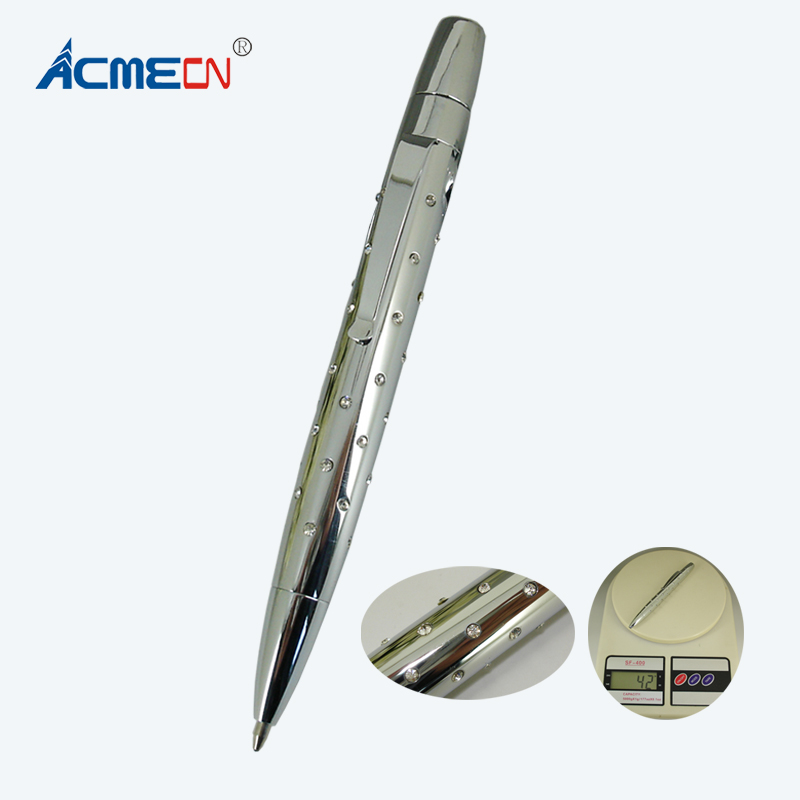 ACMECN Inlay Crystal Ball Pen with 45pcs Superior Level crystal Silver Fashion Ballpoint Pen Gifts for Women 42g Metal Heavy PenACMECN Inlay Crystal Ball Pen with 45pcs Superior Level crystal Silver Fashion Ballpoint Pen Gifts for Women 42g Metal Heavy Pen