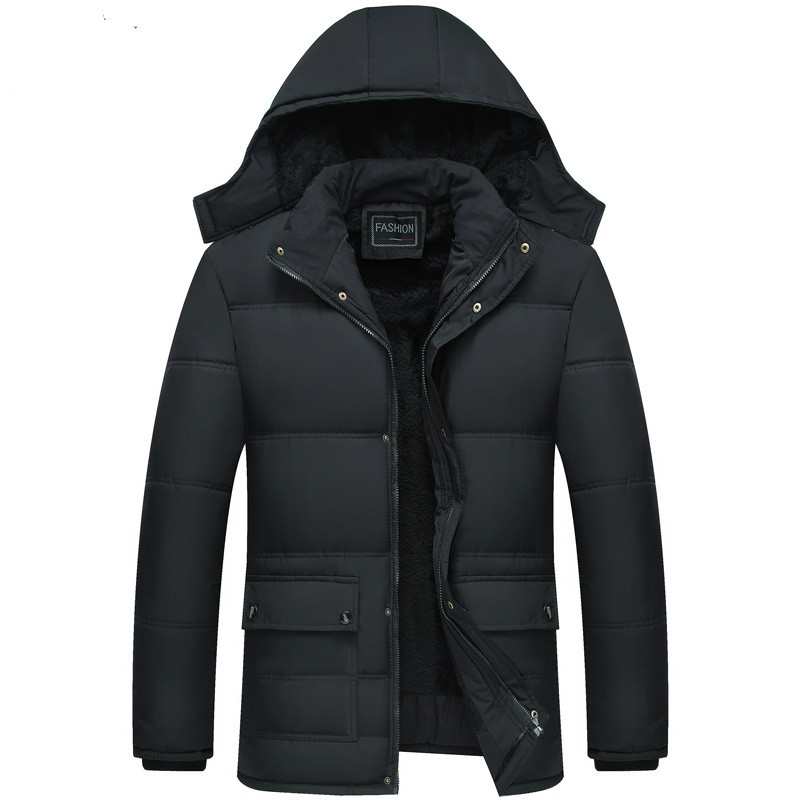 Winter Jacket Men Degree Thicken Warm   Parkas   Hooded Coat Fleece Man's Jackets Outwear Jaqueta Masculina drop shipping
