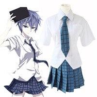 Anime Akuma no Riddle Cosplay Clothes Azuma Tokaku Girls Costumes School Uniforms Tops + Skirt Sailor Suit