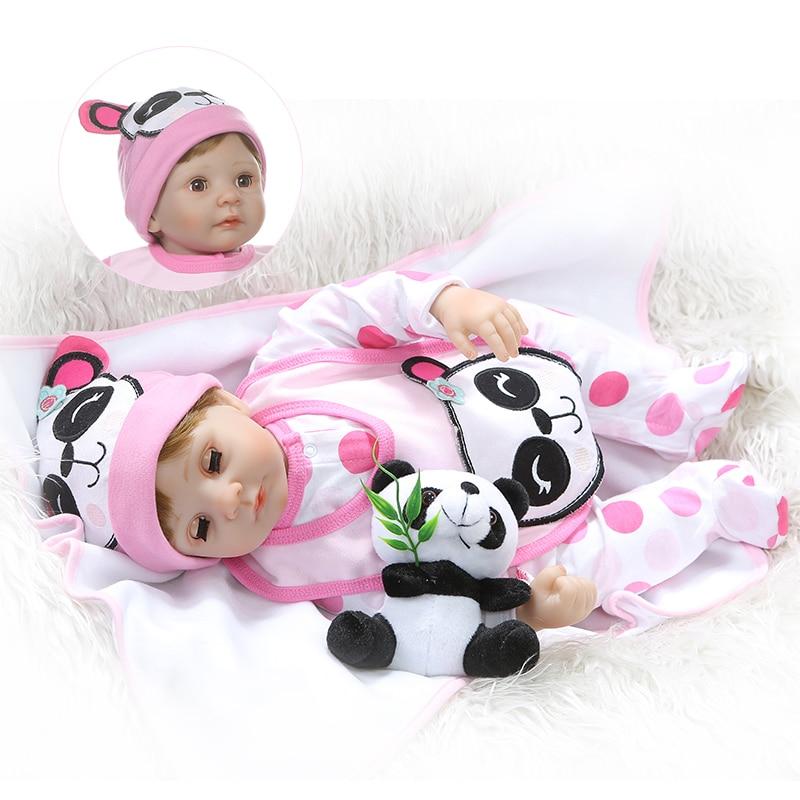 22inches NPK New Boneca Reborn Soft Silicone Vinyl Dolls 55cm Baby Doll Blink Eyes Juguetes Brinquedos