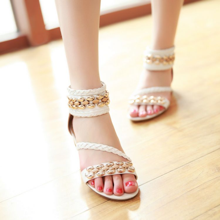 angel baby The new summer real leather sandals low heel slope heel low shoes  size 3242 woman Leather Sandals women sandals-in Men s Costumes from  Novelty ...