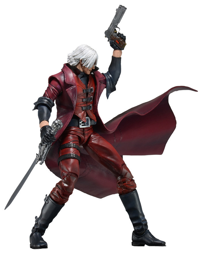 J.G Chen 2015New NECA Devil May Cry Dante PVC Action Figure Collectible Model Toy 7 18CM neca batman begins bruce wayne joint movable pvc action figure collectible model toy 7 18cm