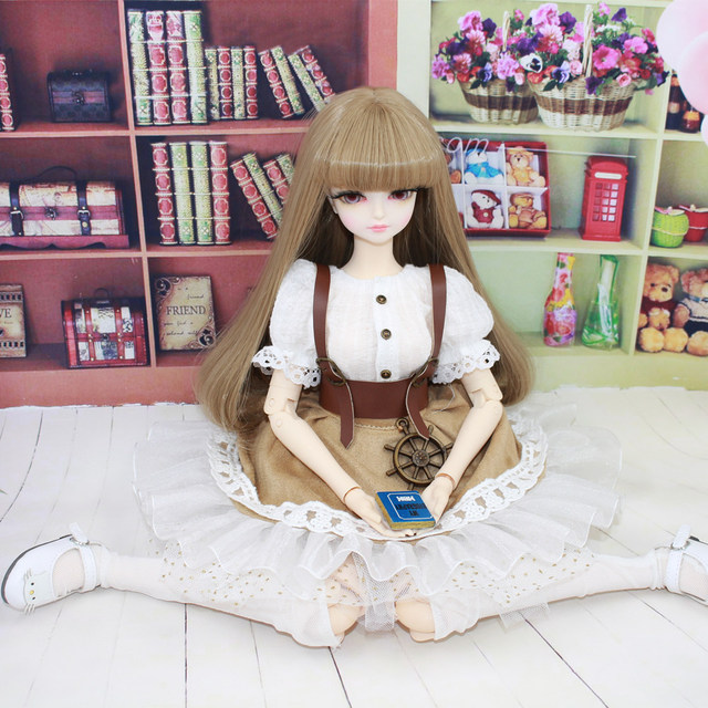 Fortune Days for 1/4 BJD Doll 45cm Highly brown fashion girl in four piece dress Set High Quality Blyth reborn girls Toy Gifts 4
