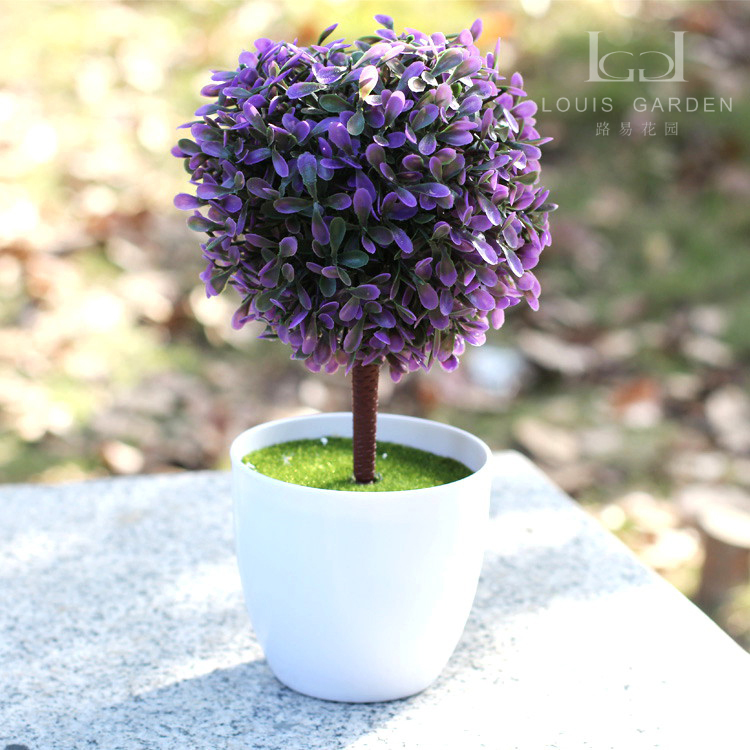 Artificial flower grass ball tree table flowers small for Small indoor flowering plants