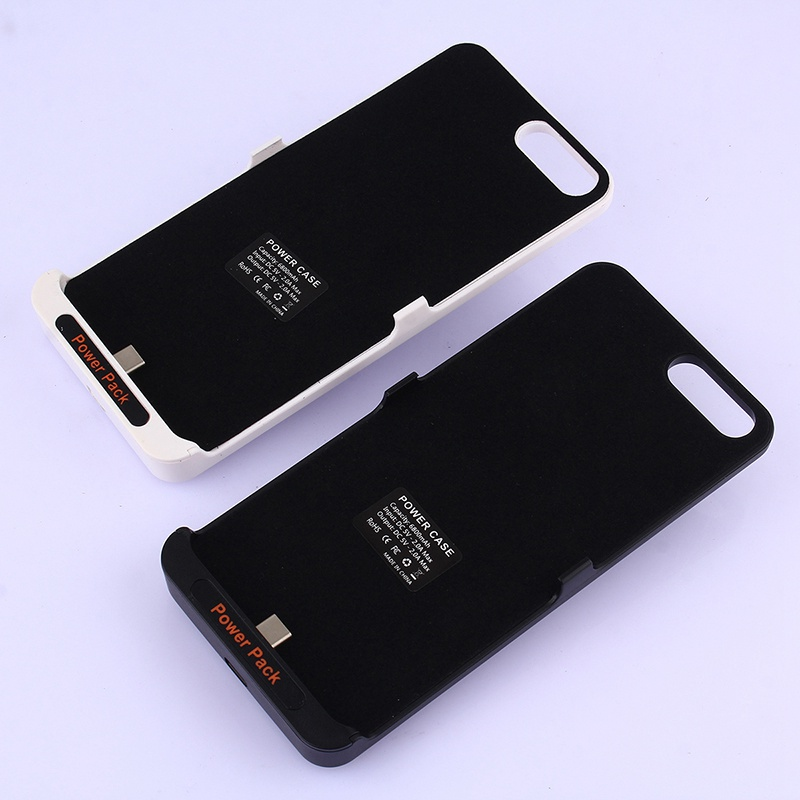 Bakeey Back Clip Battery Charge Case 6800mAh Black And White Blister 164x77x19.5mm 5V/2A For Xiaomi Note 3