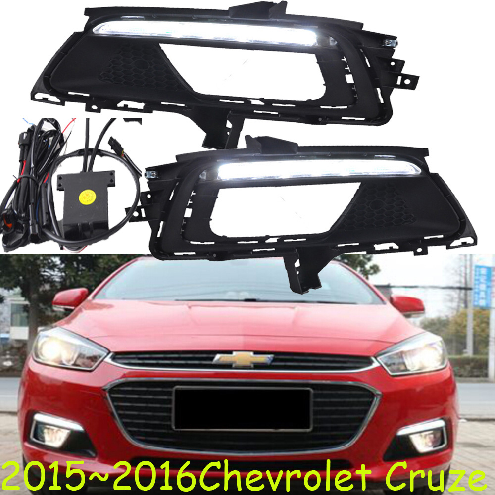 Chevrole Cruz daytime light,2009~2013/2015~2016;Free ship!LED,Cruz fog light,2ps/set;Cruz 2013 2016 cadilla xts daytime light 4pcs set led free ship xts fog light ats sls srx xlr