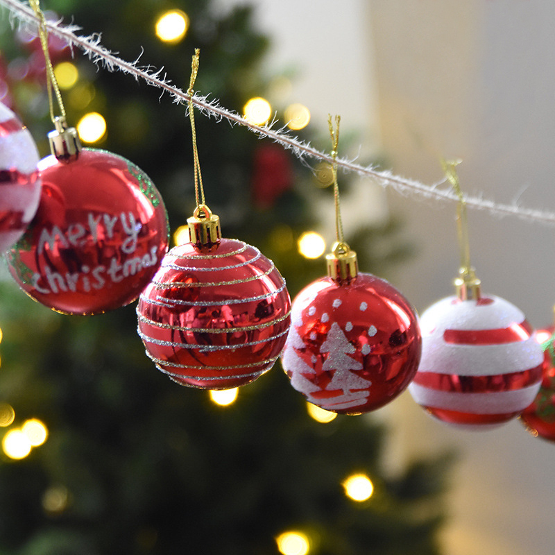 Decorative Christmas Ball Ornaments: Christmas Decorations Christmas Balls Bright Painted Ball