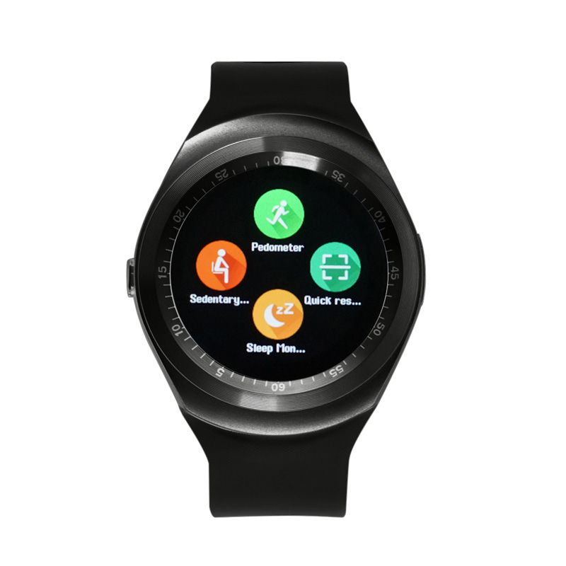 Y1 Bluetooth Smart <font><b>Watches</b></font> <font><b>Support</b></font> <font><b>SIM</b></font> Card Multi Language Sleep Monitor <font><b>Sport</b></font> <font><b>Pedometer</b></font> Smartwatch For Android Smartphone 2017