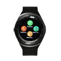 Y1 Orologi Intelligenti Bluetooth Carta di Sostegno SIM Multi Language Controllare il Sonno Sport Contapassi Smartwatch Per Smartphone Android 2017