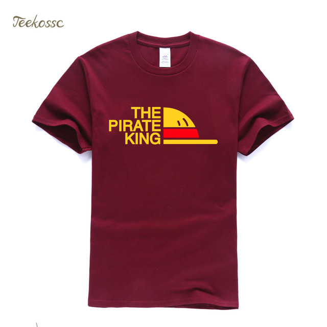 New Brand One Piece T-Shirt Men The Pirate King T Shirt Mens Luffy Tshirt Summer Tees Japanese Anime Cotton Short Sleeve Men's