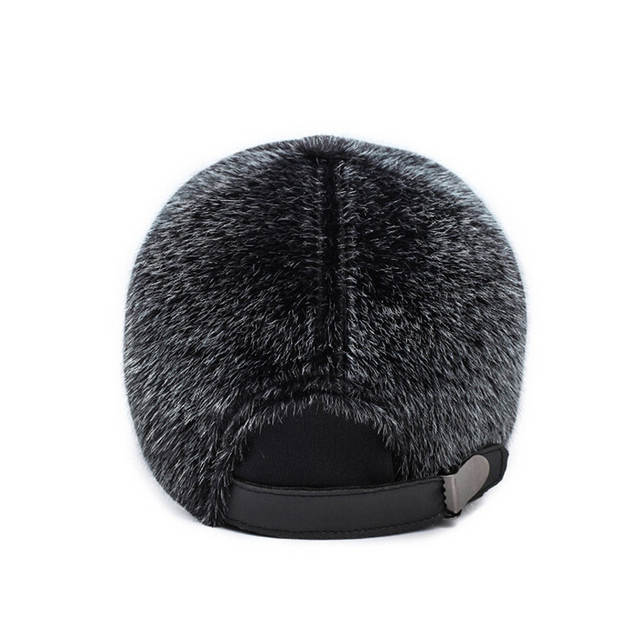 86be583e3a7 New Men s Winter Warm Faux Mink Fur Baseball Cap Male Thick Thermal Caps for  Dad Caps