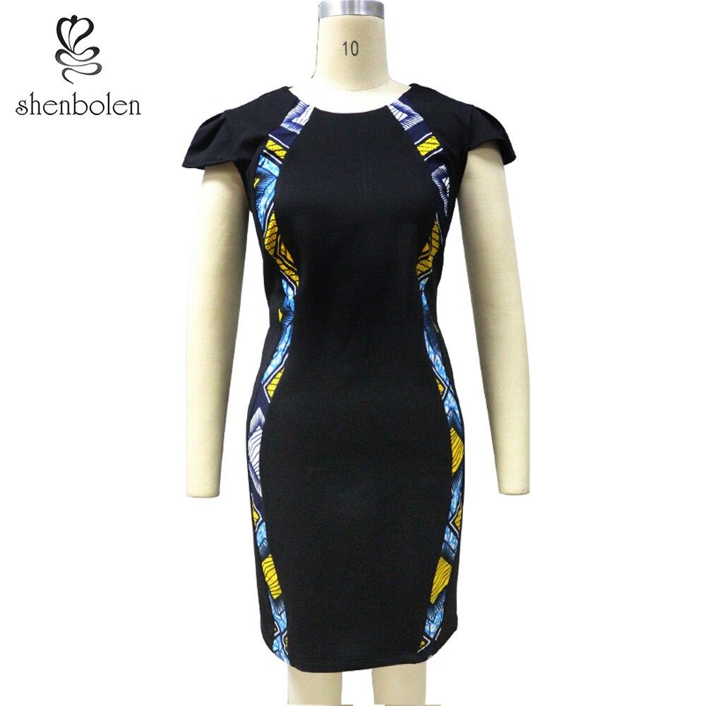 Shenbolen African Dresses For Women Cotton Batik Print