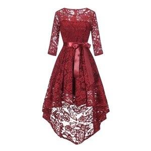 Image 4 - 2020 wedding party dress suknia wieczorowa modna odzież krótki przód długi powrót ciemnoniebieski halter Bow sukienki druhen