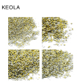 KEOLA Wholesale 1000pcs/pack 12 Shapes For Choosing Golden Rivet Accessories Nail Art Rhinestone DIY Nail Art Decoration